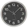 more details on Hygena Rocco Radio Controlled Metal Wall Clock