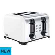 Russell Hobbs Oslo 4-Slice White Toaster 23545