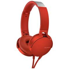 Sony MDR-XB550AP On-Ear Headphones - Red