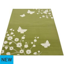 Maestro Butterfly and Floral Rug - 120x170cm - Green