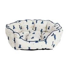 Alfie Oval Medium Cream Pet Bed