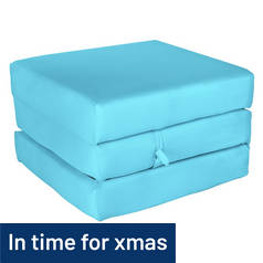 ColourMatch Single Mattress Cube - Crystal Blue