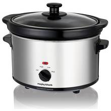 Morphy Richards 2.5L Slow Cooker - Stainless Steel