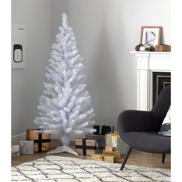 Christmas Branch Tree.Buy Argos Home 5ft Fibre Optic Christmas Tree White Artificial Christmas Trees Argos