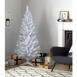 Argos Home 5ft Fibre Optic Christmas Tree - White