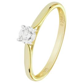 Revere 9ct Yellow Gold 0.25ct Diamond Solitaire Ring