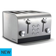 Morphy Richards 4 Slice Toaster - Brushed Stainless Steel