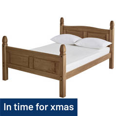 Argos Home Puerto Rico Kingsize Bed Frame - Dark Pine