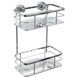 Croydex Charlwood 2 Tier Chrome Flexi Fit Cosmetic Basket