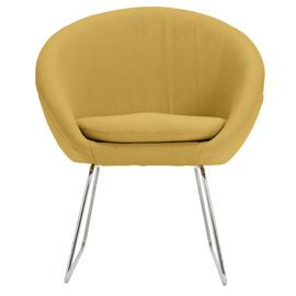 Argos Home Fabric Pod Chair - Yellow