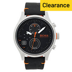 Hugo Boss Orange Amsterdam Men's Black Strap Watch