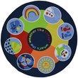 Slip Resistant Circle Rug - 133x133cm - Weather Wheel