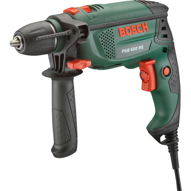 buy bosch psb 650w corded hammer drill at. Black Bedroom Furniture Sets. Home Design Ideas