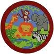 Slip Resistant Circle Rug - 200x200cm - Animals