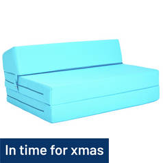 ColourMatch Small Double Chairbed - Crystal Blue