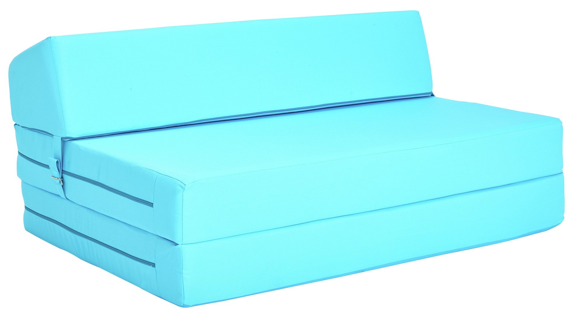 colourmatch small double chairbed crystal blue