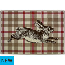 Maestro Checked Rabbit Rug - 120x170cm