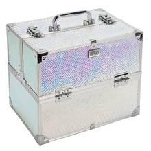 Buy Pretty Pink Large Silver Aluminium Vanity Case At