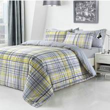 Pieridae Yellow Checked Bedding Set - Kingsize