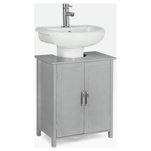 Incredible Buy Argos Home Tongue And Groove Undersink Storage Unit Grey Bathroom Shelves And Storage Units Argos Download Free Architecture Designs Itiscsunscenecom