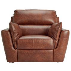 Argos Home Denver Leather Effect Chair - Chocolate
