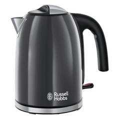 Russell Hobbs Colours+ Stainless Steel Grey Kettle 20414