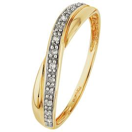 Revere 9ct Gold Diamond Crossover Eternity Ring