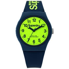 Superdry Men's Navy Silicone Strap Watch