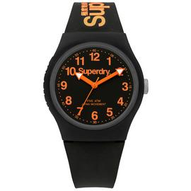 Superdry Men's Black Silicone Strap Watch