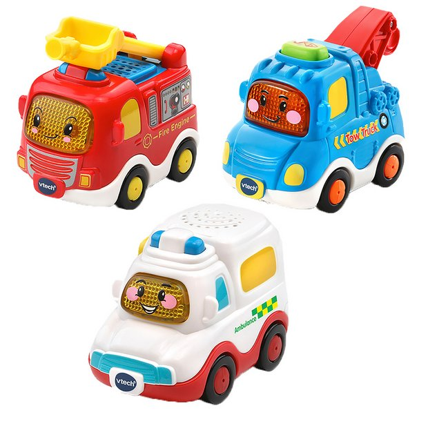 Buy VTech Toot Toot 3 Pack of Emergency Vehicles | Toy cars, vehicles and sets | Argos
