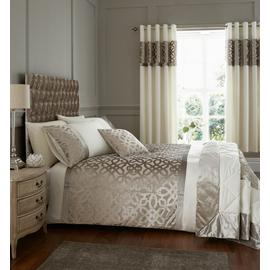 Catherine Lansfield Lattice Cut Velvet Bedding Set Superking