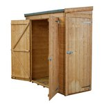 more details on Shiplap Wooden Pent Shed Double Door and Side Door - 6x2ft.
