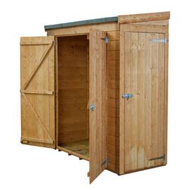 Mercia Wooden 6 x 2ft Shiplap Double Door and Side Door Shed Best Price, Cheapest Prices