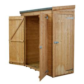 Mercia Wooden 6 x 2ft Shiplap Double Door and Side Door Shed