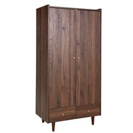 Argos Home Lola 2 Door 2 Drawer Wardrobe - Walnut Effect