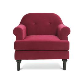Argos Home Whitney Velvet Armchair - Cranberry