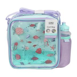 Ocean Print Lunch Bag & Bottle - 450ml