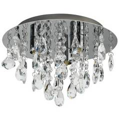 Argos Home Ivy Glass Droplet Ceiling Light