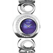 Seksy Ladies' 4452 Purple Dial Curve Bracelet Watch