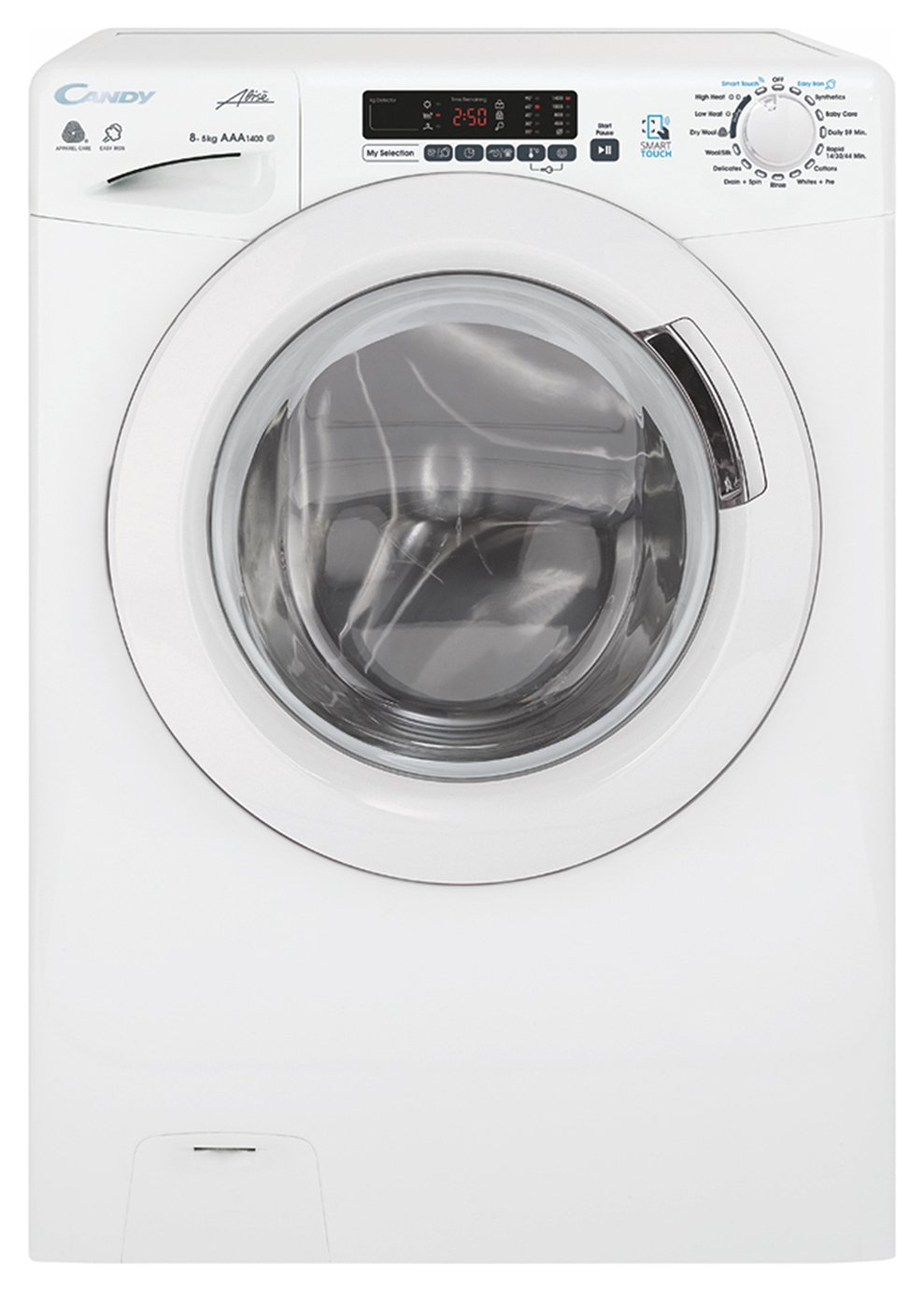 candy gvsw485dc 8 5kg spin washer dryer white