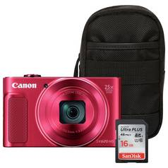 Canon PowerShot SX620 HS 20MP 25x Zoom Camera Bundle - Red