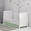 more details on Obaby Stamford Cot Bed - White with Pistachio
