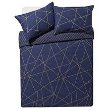 Collection Luxe Fineline Geometric Bedding Set - Double