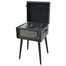 Bush Wooden Turntable with Legs - Black