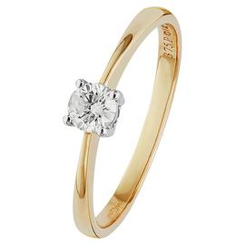 Revere 9ct Gold 0.25ct Diamond Solitaire Ring