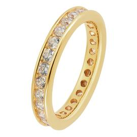 Revere 9ct Gold Plated Cubic Zirconia Eternity Ring