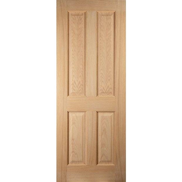Buy Jeld Wen 4 Panel Oak Veneer Interior Door 2032 X 813mm At Your Online Shop For