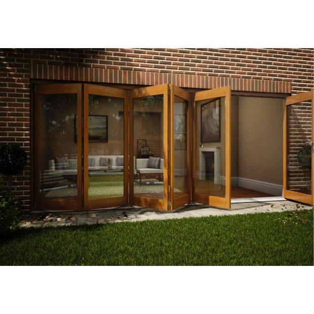 Buy Jeld Wen Oak Veneer Folding Patio Door Set 2105 X