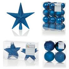 Premier Decorations 35 Piece Luxury Decoarions - Dark Blue