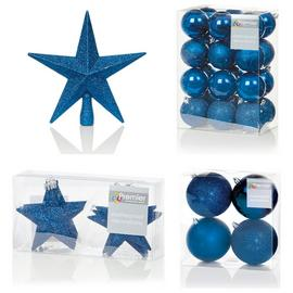 Premier Decorations 35 Piece Luxury Decoarions - Dark Blue